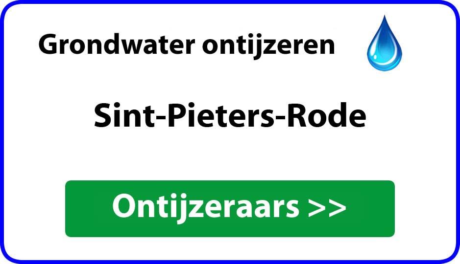 Ontijzeraar ijzer in grondwater Sint-Pieters-Rode
