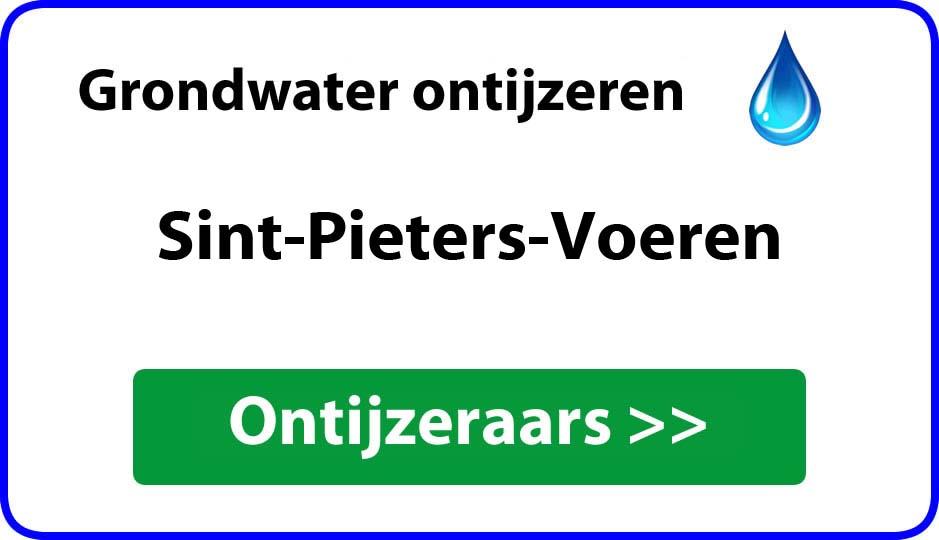 Ontijzeraar ijzer in grondwater Sint-Pieters-Voeren