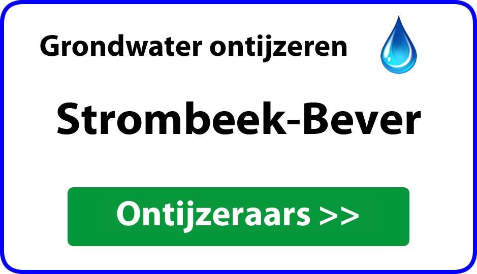 Ontijzeraar ijzer in grondwater Strombeek-Bever