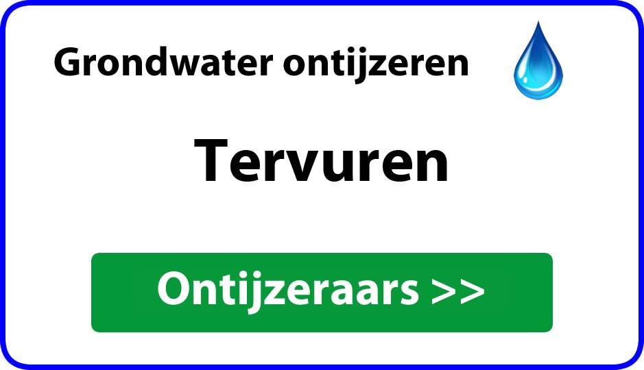 Ontijzeraar ijzer in grondwater Tervuren