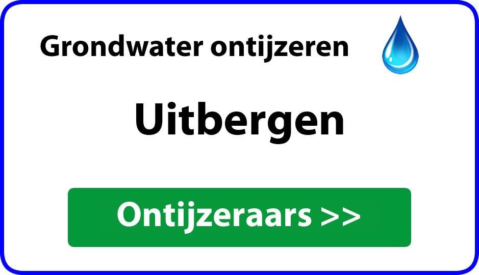 Ontijzeraar ijzer in grondwater Uitbergen