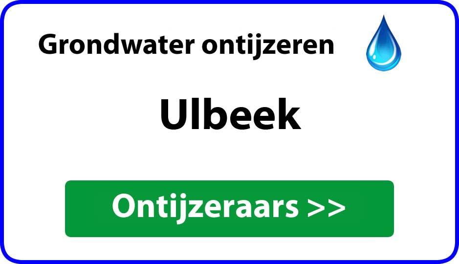 Ontijzeraar ijzer in grondwater Ulbeek