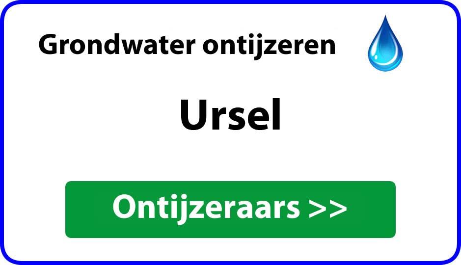 Ontijzeraar ijzer in grondwater Ursel