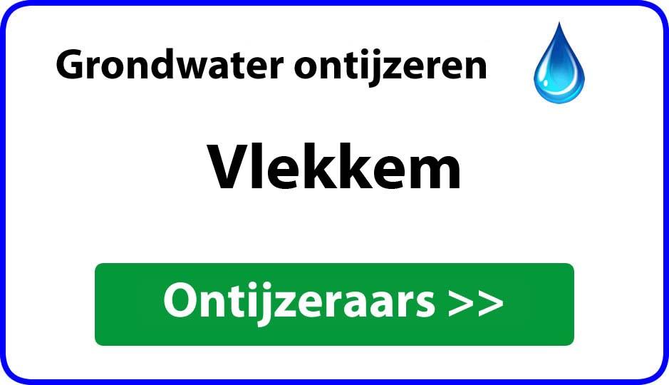 Ontijzeraar ijzer in grondwater Vlekkem