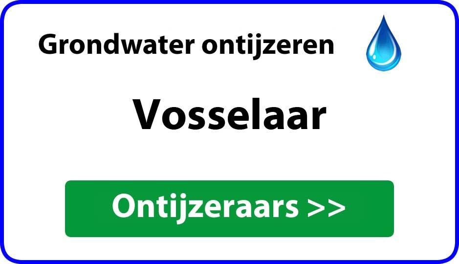 Ontijzeraar ijzer in grondwater Vosselaar