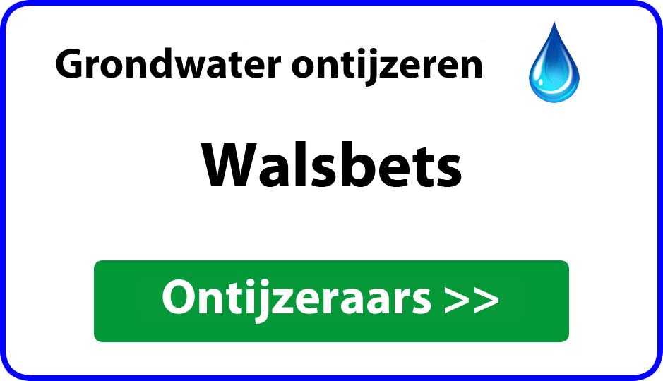 Ontijzeraar ijzer in grondwater Walsbets
