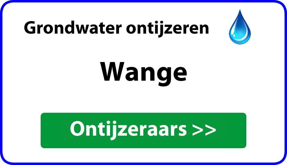 Ontijzeraar ijzer in grondwater Wange