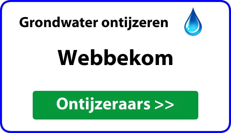 Ontijzeraar ijzer in grondwater Webbekom