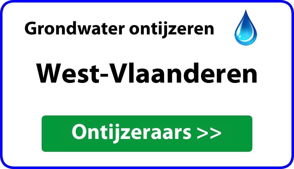 ontijzeraar ijzer in grondwater West-Vlaanderen