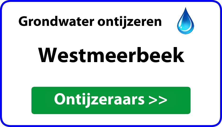 Ontijzeraar ijzer in grondwater Westmeerbeek
