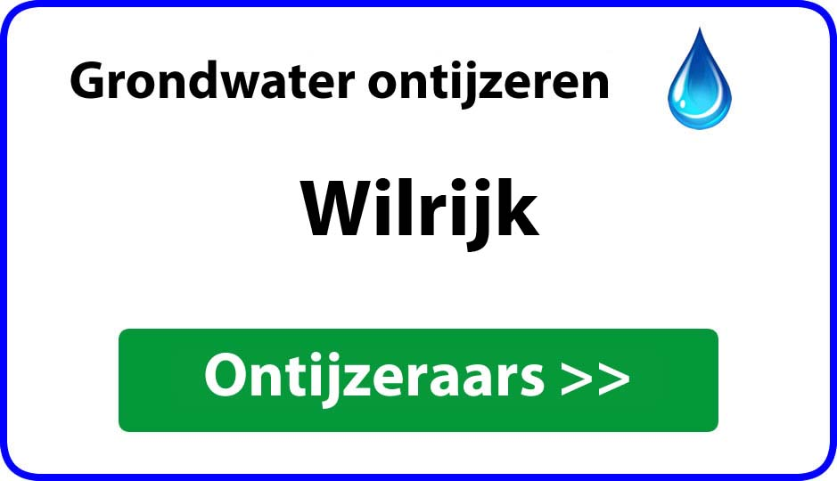 Ontijzeraar ijzer in grondwater Wilrijk