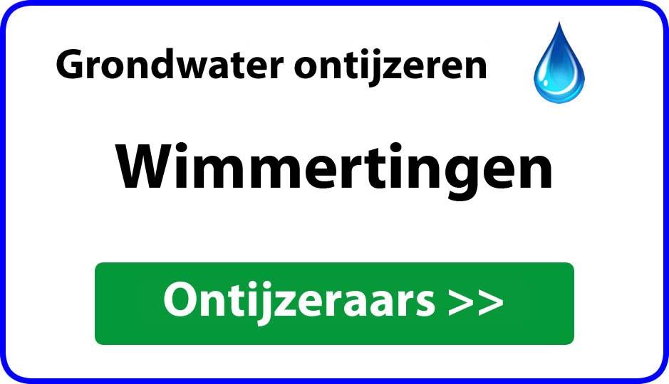 Ontijzeraar ijzer in grondwater Wimmertingen