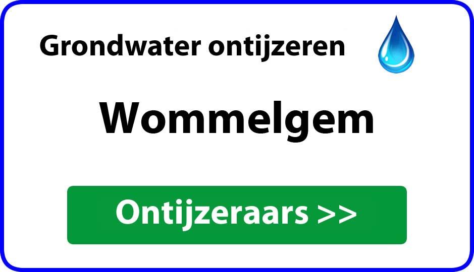 Ontijzeraar ijzer in grondwater Wommelgem