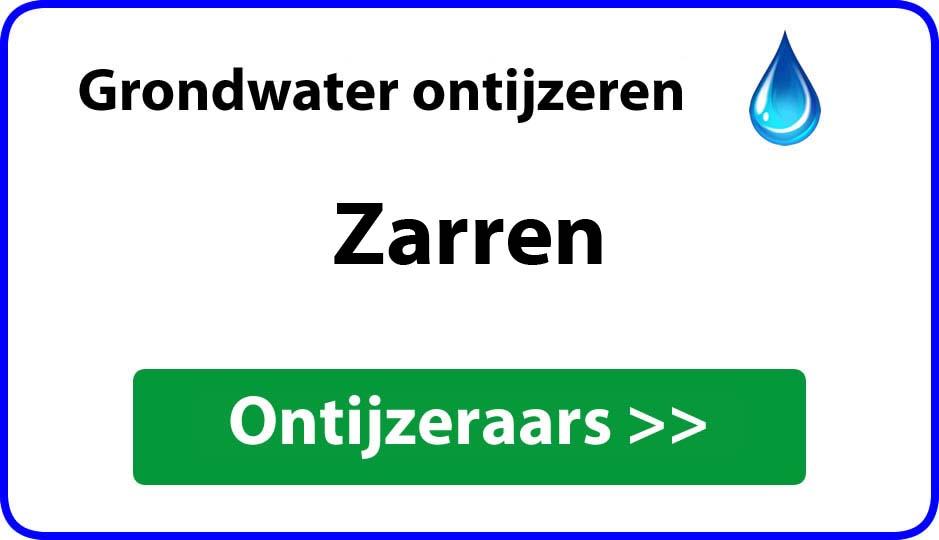 Ontijzeraar ijzer in grondwater Zarren