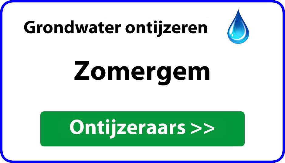 Ontijzeraar ijzer in grondwater Zomergem