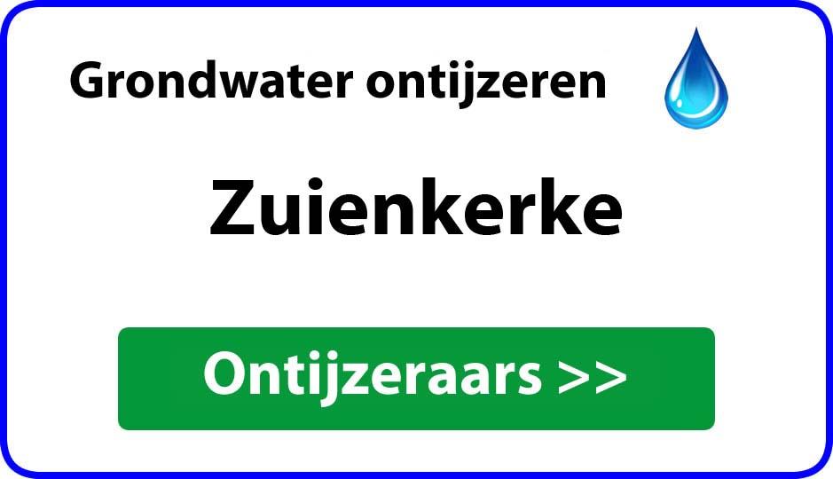 Ontijzeraar ijzer in grondwater Zuienkerke
